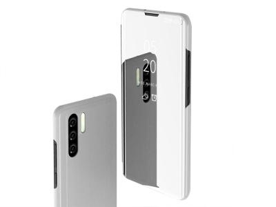 Калъф Тефтер View Window за Huawei P30 Pro, Сребрист