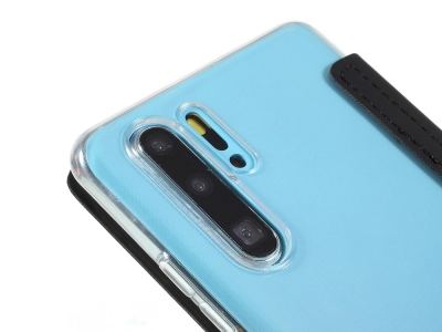 Калъф Тефтер с Огледало за Huawei P30 Pro, Черен