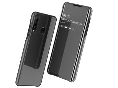 Калъф Тефтер View Window Mirror за Huawei P30 Lite / Nova 4e, Черен