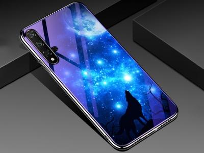 Стъклен Гръб Glass за Huawei Honor 20 / Honor 20s / nova 5T , Вълк