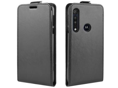Калъф Тефтер Slim Flexy за Motorola One Macro / Moto G8 Play , Черен
