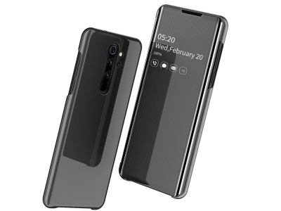 Калъф Тефтер Clear View Window за Xiaomi Redmi Note 8 Pro, Черен