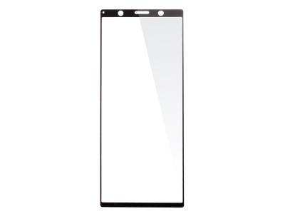 Стъклен Протектор Full Glue 5D за Sony Xperia 5, Черен