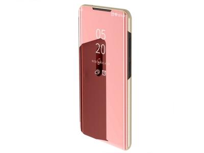 Калъф Тефтер View Window Mirror за Samsung Galaxy A50/A50s/A30s, Розов/ Златист