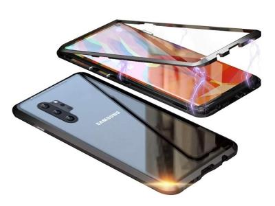 360 Алуминиев магнитен бъмпер за Samsung Galaxy Note 10 Plus (back glass), Черен