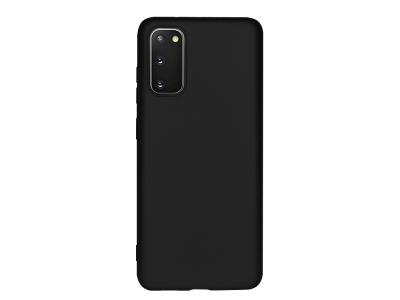 Силиконов Гръб Level за Samsung Galaxy S20, Черен