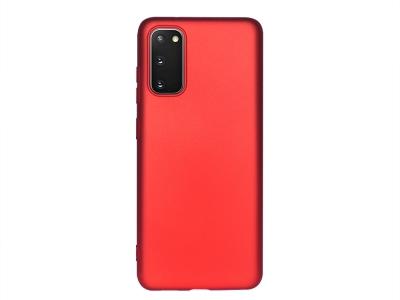 Силиконов Гръб Level за Samsung Galaxy S20, Червен