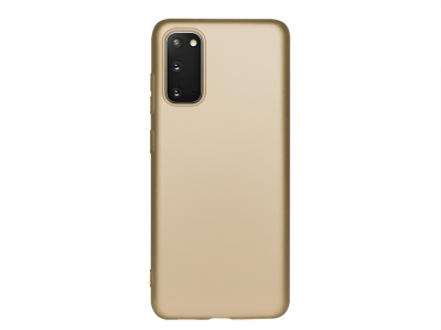 Силиконов Гръб Level за Samsung Galaxy S20, Златист