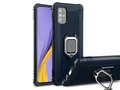 Удароустойчив Калъф с Поставка за Samsung Galaxy A51, Син