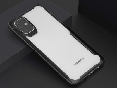 Удароустойчив гръб Shock-resistant за Samsung Galaxy A71, Черен