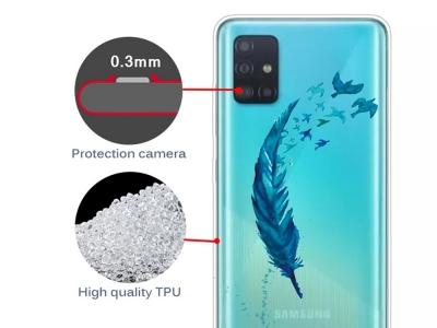 Силиконов Гръб за Samsung Galaxy A71 , Перо