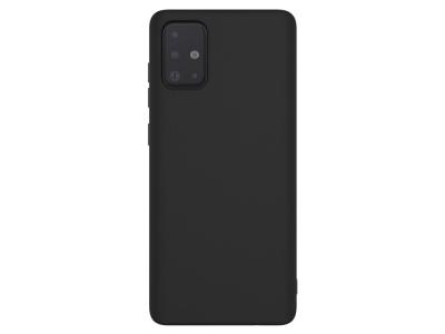 Силконов Гръб Matt IMAK за Samsung Galaxy A71, Черен