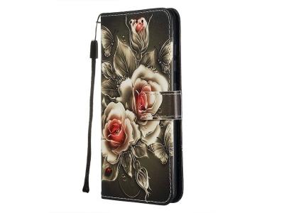 Калъф Тефтер за Samsung Galaxy A51, Цветя