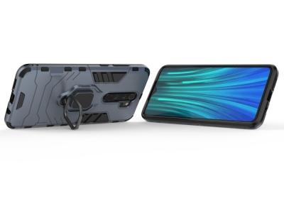 Удароустойчив Калъф с Поставка за Xiaomi Redmi Note 8 Pro, Син
