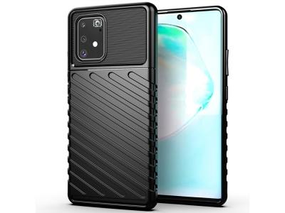 Силиконов Гръб Thunder за Samsung Galaxy S10 Lite / A91, Черен