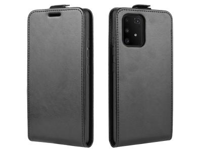 Калъф Тефтер Vertical за Samsung Galaxy S10 Lite / A91, Черен