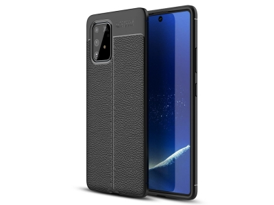 Силиконов гръб Litchi за Samsung Galaxy S10 Lite / Galaxy A91, Черен