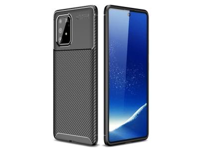 Силиконов гръб Beetle Carbon за Samsung Galaxy S10 Lite / Galaxy A91, Черен