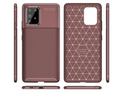 Силиконов гръб Beetle Carbon за Samsung Galaxy S10 Lite / Galaxy A91, Кафяв