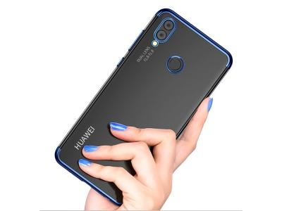 Силиконов гръб с лайсна CLEAR за Huawei P Smart 2019, Син