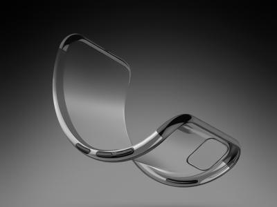 Силиконов гръб с лайсна CLEAR за Samsung Galaxy A51, Черен