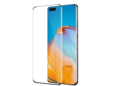 Стъклен Протектор Full Glue 5D за Huawei P40 Pro, Черен