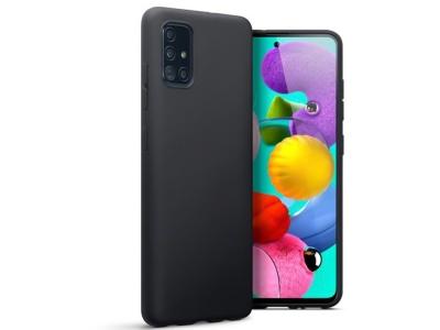 Силиконов Гръб Lite MATTE за Samsung Galaxy A71, Черен