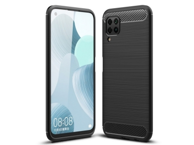 Силиконов гръб Carbon Fibre за Huawei P40 Lite, Черен