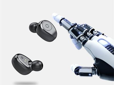 Bluetooth Слушалки TWS F9 с универсална външна батерия, Черен