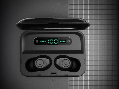 Bluetooth Слушалки TWS F9 Plus с универсална външна батерия , Черен