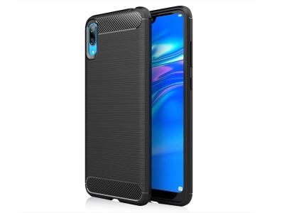 Силиконов гръб Carbon Fibre за Huawei Y7 PRO (2019), Черен