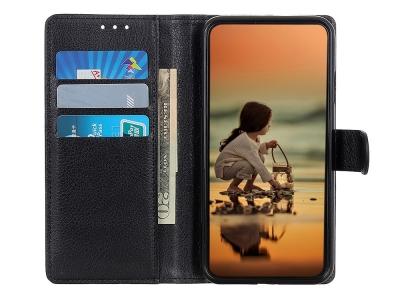 Калъф Тефтер за Huawei P40 lite / nova 7i / nova 6 SE, Черен