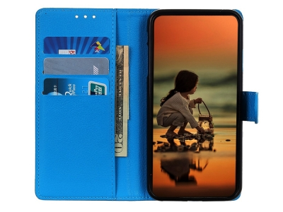 Калъф Тефтер за Huawei P40 lite / nova 7i / nova 6 SE, Син