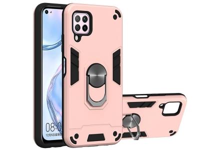 Удароустойчив Гръб Kickstand за Huawei Nova 6 SE/7i/P40 Lite, Розов/ Златист