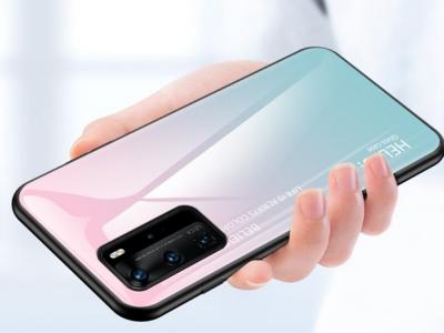 Стъклен Гръб Glass за Huawei P40 Pro, Розов/ Син