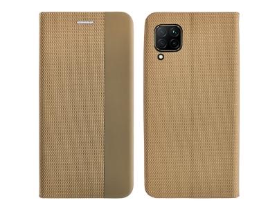 Калъф Тефтер SENSITIVE за Huawei P40 Lite, Златист