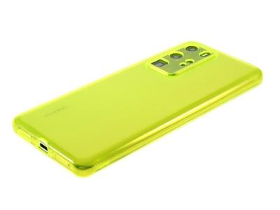 Силиконов гръб за Huawei P40 Pro, Прозрачен/ Жълт