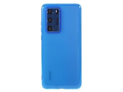 Силиконов гръб за Huawei P40 Pro, Прозрачен/ Син