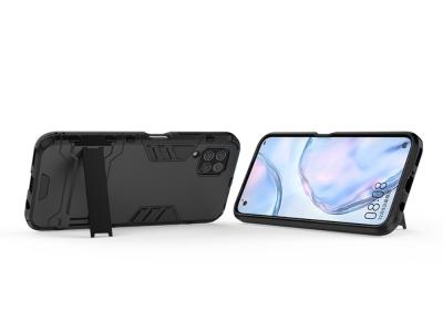 Удароустойчив Калъф с Поставка за Huawei P40 Lite, Черен