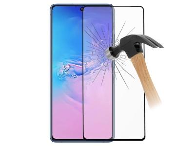 Стъклен Протектор за Samsung Galaxy A91/S10 Lite, Черен