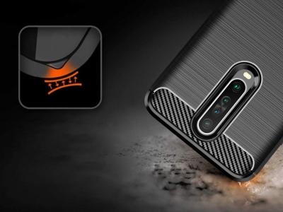 Силиконов гръб Carbon за Xiaomi Redmi K30, Черен