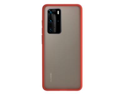 Удароустойчив Гръб Bumper за Huawei P40 Pro, Червен