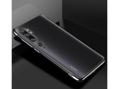 Силиконов Калъф с лайсна за Xiaomi Mi Note 10 Pro, Черен