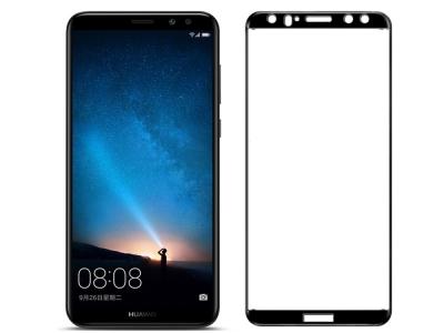 Стъклен протектор 5D Full Glue за Huawei Mate 10 Lite, Черен