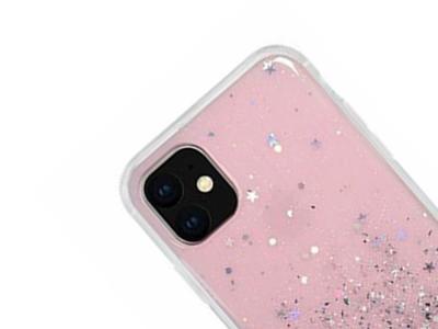 Удароустойчив гръб Glitter за Iphone 11 Pro (5.8), Розов