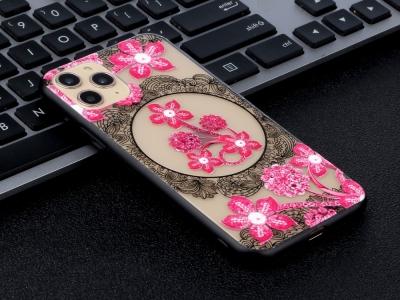 Удароустойчив гръб Lace Flower за Iphone 11 Pro, Розови цветя