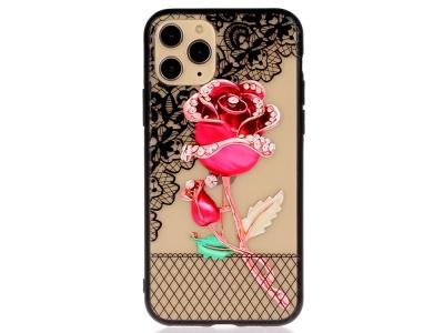 Удароустойчив гръб Lace Flower за Iphone 11 Pro, Роза
