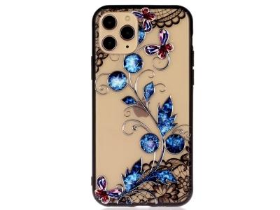 Удароустойчив гръб Lace Flower за Iphone 11 Pro Max, Сини пеперуди