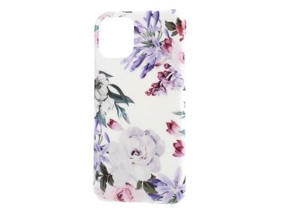 Силиконов Гръб Flower за iPhone 11, Виолетови цветя