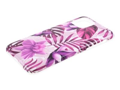 Силиконов Гръб Flower за iPhone 11, Лилави листа